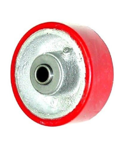 "Superior, Import 4"" x 1-1/2"" Polyurethane Wheel with 3/4"" ID Spans to 3/4"" Red (One)"