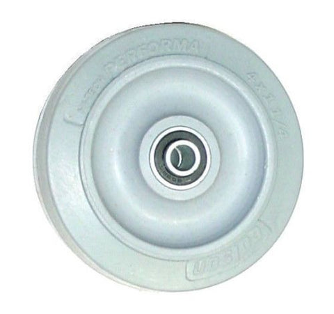 "Colson, Colson 4"" x 1-1/4"" Soft Rubber Wheel with 3/8"" ID [2-4-445] Performa"
