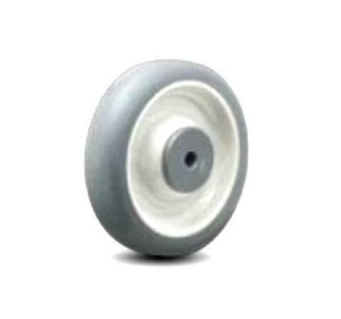 "Superior Brand, Jarvis 6"" x 1-1/4"" Soft Rubber Wheel with 3/8"" ID for Scrubber Machine"