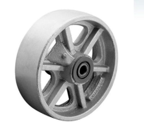 "Superior Brand, Durable 6"" x 2"" Steel Wheel with 1/2"" ID (Gray)(1200# Cap.) / Superior Brand"