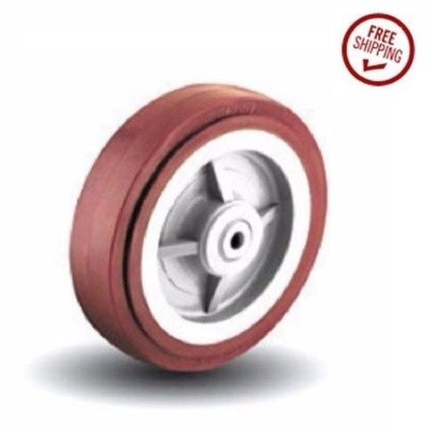 "Superior,  Polyurethane on Polypropylene Wheel with 1/2"" ID Bearing 4"" x 2"" Wide"