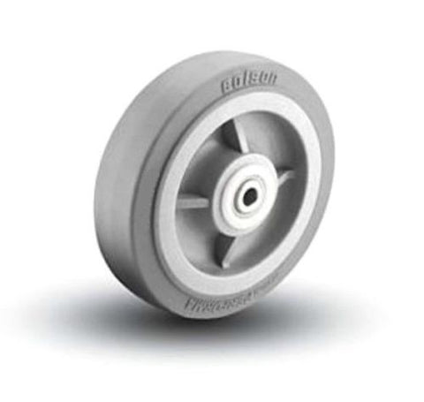 "Narrow Profile, Colson 10"" x 1-1/2"" Soft Rubber Wheel w/ 5/8"" ID (Gray)(500# Cap) 5/8"" ID (One)"