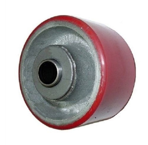 "Superior Brand, Polyurethane on Cast Iron Wheel 3-1/4"" Dia x 2"" Wide with 5/8"" ID Roller Bearing"