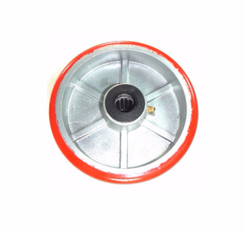 "Superior, (One) DuraStar 6"" x 2"" Polyurethane Wheel with 1/2"" ID 1/2"" ID 900# Cap"