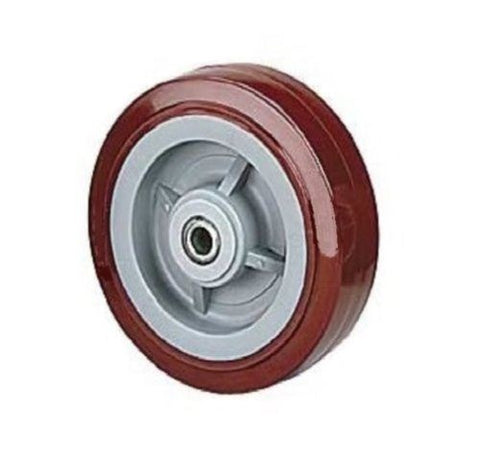 "PolyPro Brand, 4 Series Wheel (8"" Dia. 2"" Wide with 3/4' ID Roller Bearing ) / 800# Cap."