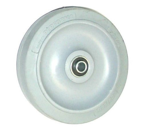 "Colson, Colson Soft Gray Rubber Wheel 5"" Dia x 1-1/4"" Wide with 3/8"" Ball Bearing"