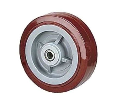 "PolyPro Brand, Durable 5"" x 2"" PolyPro Wheel with 1/2"" ID Roller Bearing (Maroon)(600# Cap.)"