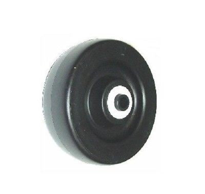 "Superior Brand,  Replacement 5"" x 2"" Polyolefin Wheel with 1/2"" ID (400# Cap.) Black"