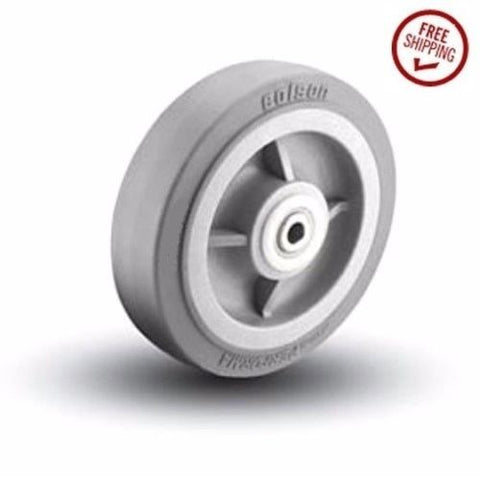 "Colson, Colson 8"" x 2"" Soft Rubber Wheel with 1/2"" ID 5-8-459 1/2"" ID Axle Bore"