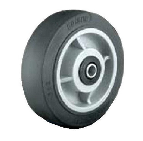 "Colson, Colson 5"" x 2"" Soft Rubber Wheel with 1/2"" ID Black (One) / 500# Cap."