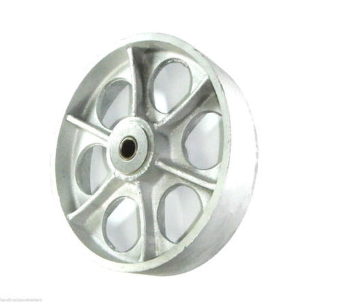 "Superior Brand, Durable 3/4"" ID 10"" x 2-1/2"" Cast Iron Spoked Wheel 2-3/4"" Hub 1700 # Cap."