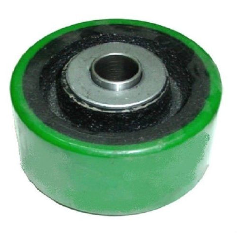 "Superior, Green Polyurethane on Cast Iron Non Marring Wheel 4"" x 2"" with 3/4"" ID Bearing"