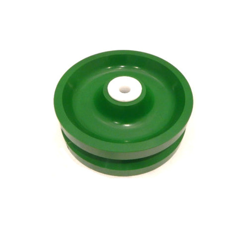 "Albion, Solid Polyurethane V-Groove Wheel 6"" x 2"" with 1/2"" ID Wet Environment Bearing"