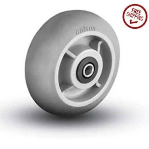 "Colson, Colson 8"" x 2"" Soft Rubber Wheel with 1/2"" ID Gray 600# Cap."