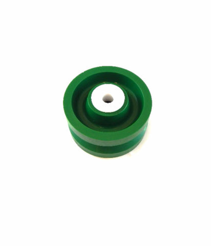 "Albion, Solid Polyurethane 4"" x 2"" V-Groove Wheel with 1/2"" ID Wet Environment Bearing"