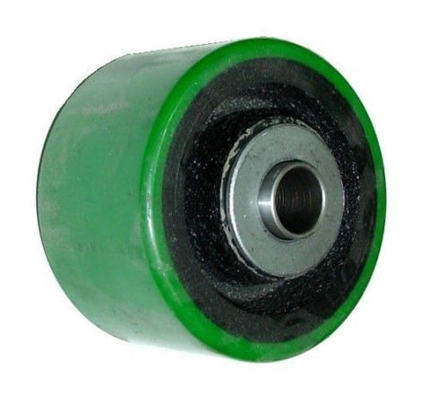 "Superior, Durable 4"" x 2"" Polyurethane Wheel with 1/2"" ID Green 450lbs. Cap."