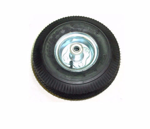 "Superior, Pneumatic Air Tire 10"" x 3.5"" Centered 3-Piece Hub 350# Cap. 5/8"" ID Bearing"