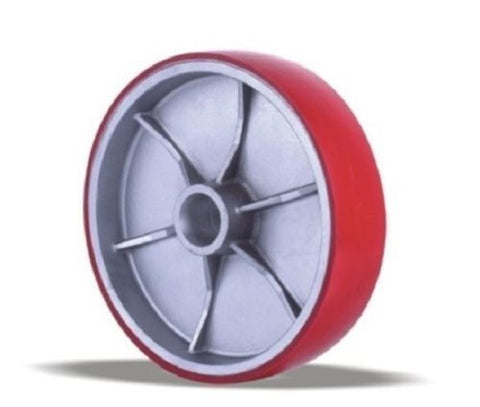 "Superior Brand, ONE Polyurethane on Aluminum Wheel 6"" x 2"" with Roller Bearing ****Light Weight"