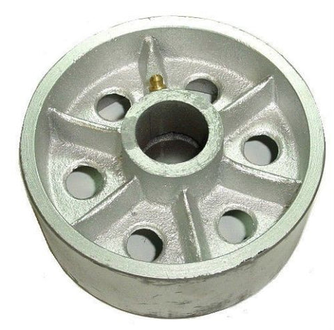 "Superior Brand, DuraTek 5"" x 2"" Cast Iron Wheel with 1/2"" ID 3/4"" Bearing Spans to 1/2""ID 520SS"