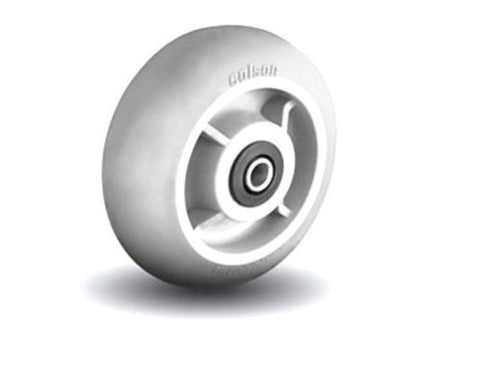 "Colson, Colson 6"" x 2"" Round Tread Soft Gray Wheel with Roller 1/2"" ID Roller Bearing"