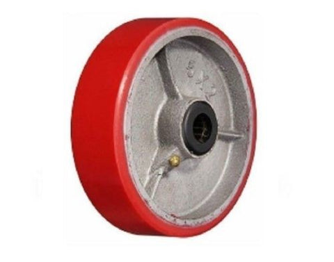 "Superior, Polyurethane on Cast Iron Wheel 6"" x 2"" 900lbs. Cap with 3/4"" ID Roller Bearing"