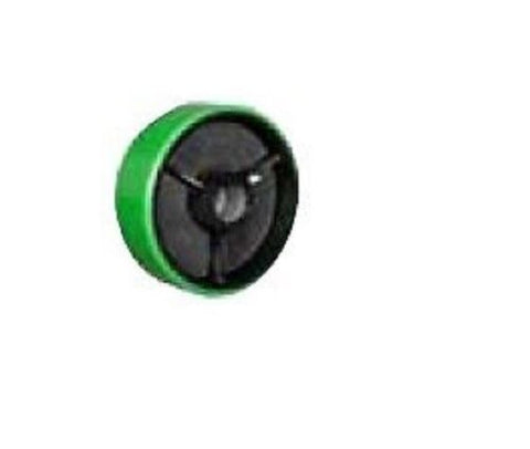 "Superior, Polyurethane on Cast Iron Wheel 6"" x 2"" 900lbs. Cap with 1/2"" ID Roller Bearing"