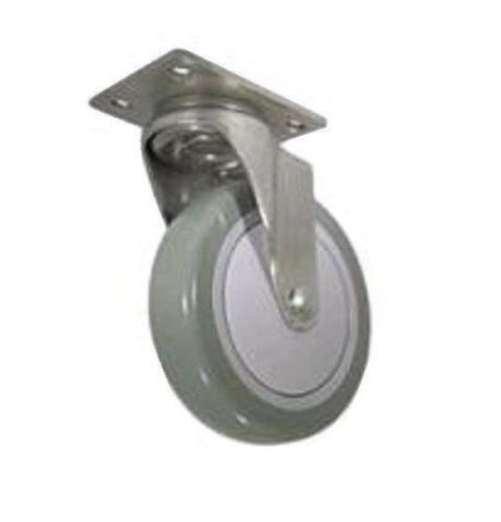 "Superior Brand, Swivel Caster 4""x1-1/4"" Poly Wheel 2-1/2""x3-5/8"" Plate Tile and Hard Floor Safe"