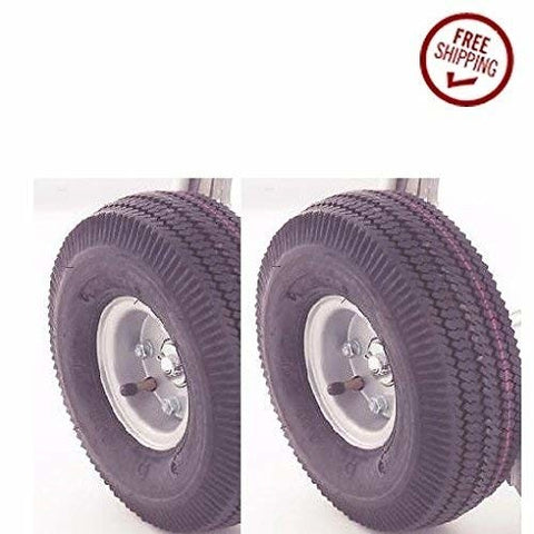 "Durable Superior, Offset Hub HandTruck Tire 5/8"" ID 10"" Wheel Air Tire Innertube 300# Cap ea. (2)"