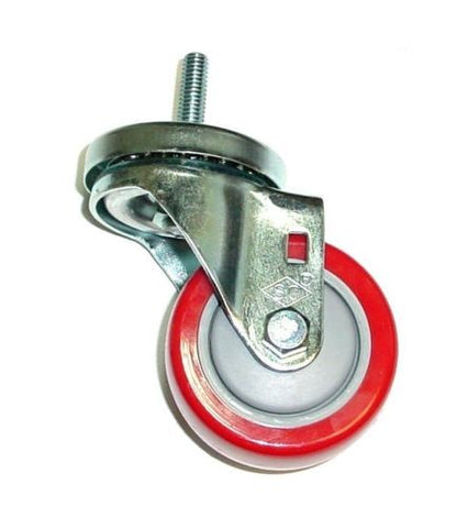 "Superior Brand, Swivel Stem Caster 3"" Poly Wheel and 3/8"" -16 x 1-1/2"" Tall Stem Threaded Stem"