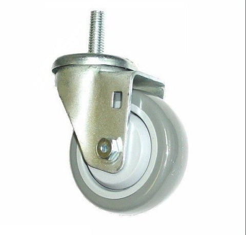 "Superior Brand, Swivel Caster with 250# Cap 3-1/2"" Polyurethane Wheel and 1/2"" Threaded Stem"