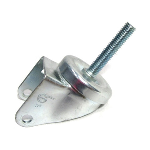 "Superior Brand, Swivel Caster Fork for 3"" x 1-1/4"" Wheel with 1/2"" Tall Threaded Stem (No Wheel)"
