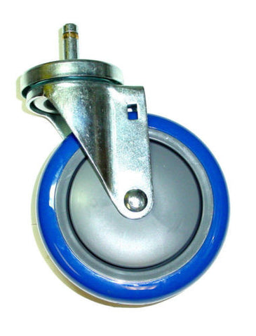 "Superior Brand, Swivel Stem Caster with 5"" Polyurethane Wheel 280 lb. Cap **Several Color Choice"