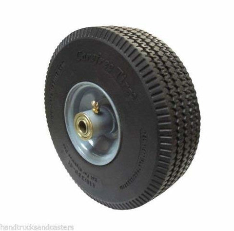 "Durable Superior, Offset Hub Hand Truck Tire 5/8"" ID 10"" Wheel Maintenance Free Precision Bearing"