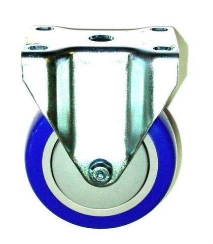 "Superior Brand, New Rigid Caster with Blue Polyurethane 4"" Wheel and Ball Bearing 2-4209-92-Blue"