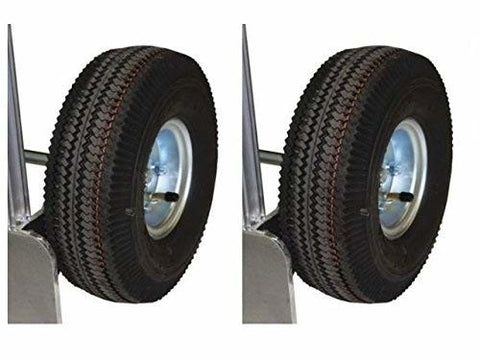 "(2) Offset Hub Tire 5/8"" ID 10"" Pneumatic Wheel Air Tire with Innertube ea."