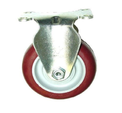 "Superior Brand, One Rigid (Fixed) Caster with 4"" x1-1/4"" Poly Wheel and Precision Bearing"