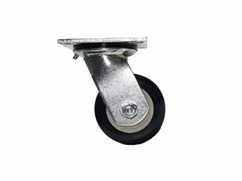 "Superior Brand, Swivel Caster 5""x2"" Poly Wheel (4""x4-1/2"" Plate) Patriot(Maintenance Free)"