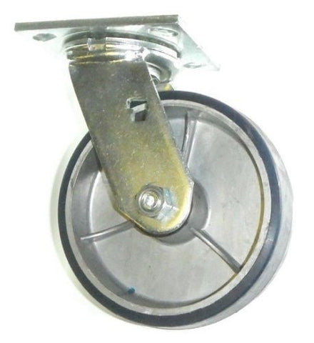 "Albion, Heavy Duty Swivel Caster with Polyurethane on Aluminum 8"" x 2"" / 1200# Cap."
