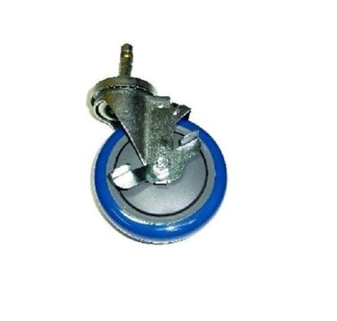 "Superior Brand, Swivel Stem Caster with 5"" Polyurethane Wheel 280 lb. Cap and Brake **Blue"