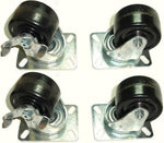"Superior Brand, Set of 4 Low Profile Heavy Duty Swivel Casters 3"" Phenolic Wheels 3-7/8"" Tall"