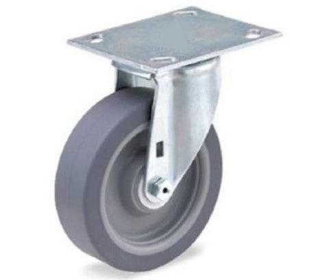 "Superior Brand, Swivel Plate Casters 4""x1-1/2"" Soft Wheel (3-1/8""x4-1/8"" Plate) w/ (275# )"