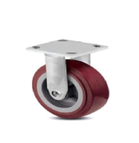 "Colson, One Colson Rigid Plate Caster with Maroon Polyurethane 6"" x 2"" Wheel 4-6108-929"