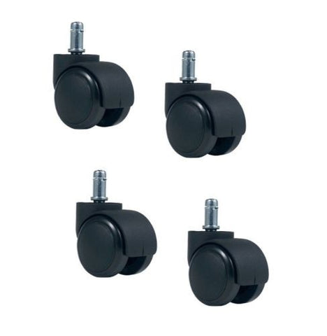 "Source II (Import), Set of 4 Wood Laminate and/or Hardwood Floor Safe Rubber Caster and 7/16"" Stem"