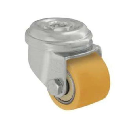 "Metric Caster 1-3/8""x1"" Extrathane Poly Wheel Stem Caster Hard Floor Safe"