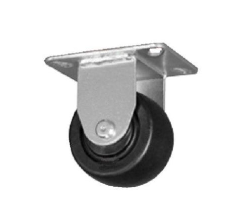 "Superior, Low Profile Rigid Plate Caster 3"" x 1-1/2"" DuraFoam Wheel 4"" x 4-1/2"" Plate One"