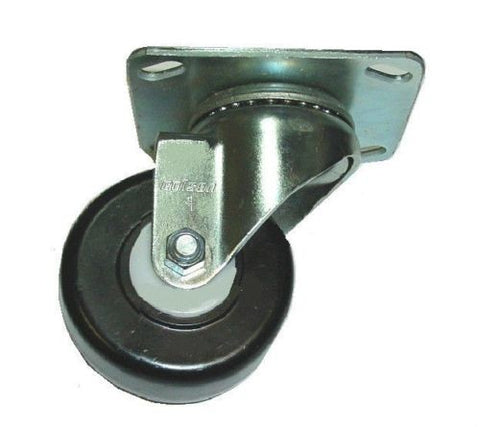 "Colson, Colson Swivel Plate Caster with Had Polyolefin 4"" Diameter x 1-1/2"" Wide Wheel"