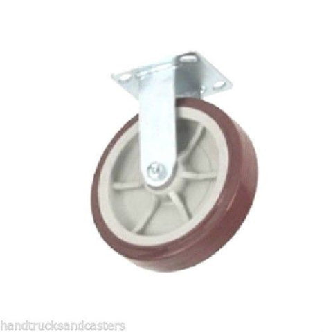 "(One) 4 Series Plate Caster with 8"" Polyurethane Wheel (Swivel Version)"