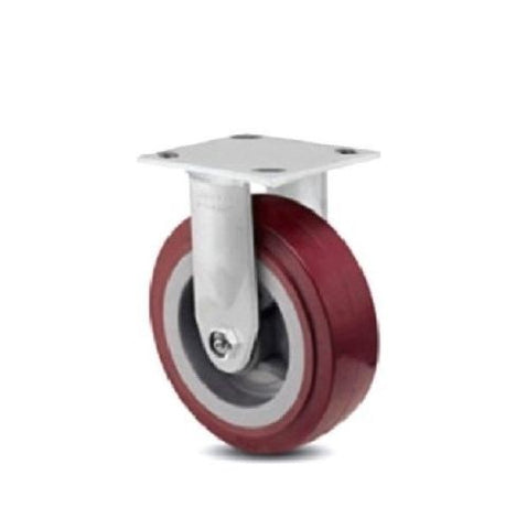 "Colson, One Colson Rigid Plate Caster with Maroon Polyurethane 8"" x 2"" Wheel 4-8198-929"