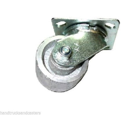 "Superior Brand, Swivel Plate Caster with 3-1/4"" Diameter x 2"" Steel Wheel with 4"" x 4-1/2"" Plate"