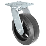 "DuraStar, Durable Swivel Caster 6""x2"" Rubber Wheel 4""x4-1/2"" Plate Dumpster Caster One"